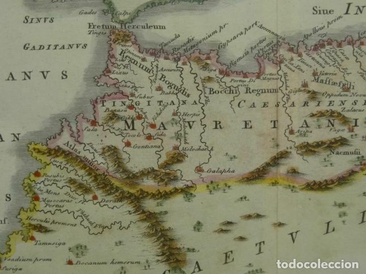 Arte: Mapa del norte de Marruecos (África) e islas Canarias (España), ca. 1798. Toms/Cellarius - Foto 3 - 204664807