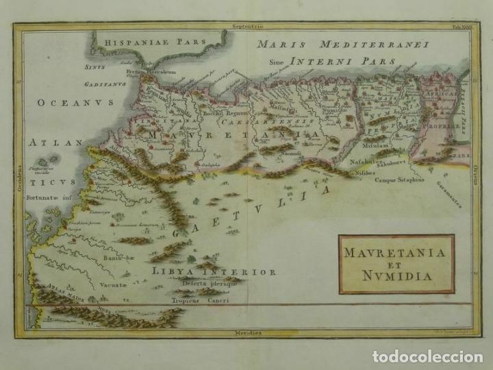 MAPA DEL NORTE DE MARRUECOS (ÁFRICA) E ISLAS CANARIAS (ESPAÑA), CA. 1798. TOMS/CELLARIUS (Arte - Cartografía Antigua (hasta S. XIX))