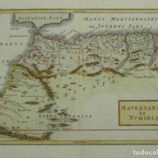 Arte: MAPA DEL NORTE DE MARRUECOS (ÁFRICA) E ISLAS CANARIAS (ESPAÑA), CA. 1798. TOMS/CELLARIUS. Lote 204664807