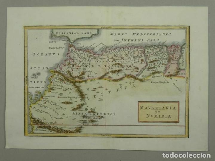 Arte: Mapa del norte de Marruecos (África) e islas Canarias (España), ca. 1798. Toms/Cellarius - Foto 2 - 204664807