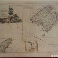 Arte: MAPA DE MALLORCA, IBIZA Y FORMENTERA (ISLAS BALEARES, ESPAÑA), 1778. ANTONIO ZATTA. Lote 204779172