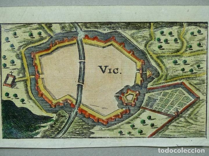 PLANO DE LA CIUDAD FORTIFICADA DE VIC (BARCELONA, ESPAÑA), 1686. CRISTOPH RIEGEL (Arte - Cartografía Antigua (hasta S. XIX))