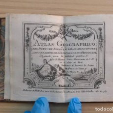 Arte: ATLAS MINIATURA COMPLETO DE TOMÁS LÓPEZ [1760] ATLAS GEOGRÁFICO DEL REINO ESPAÑA Y ISLAS ADYACENTES. Lote 205291358