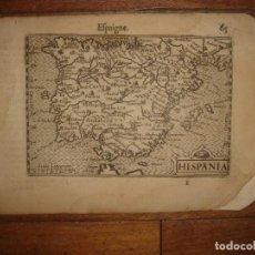 Arte: INFRECUENTE MAPA DE ESPAÑA, 1602 AMSTERDAM, BERTIUS-ROGIERS, MUY BUEN ESTADO, ORIGINAL, 418 AÑOS. Lote 205294557