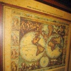 Arte: CUADRO MAPA ORBIS TERRARUM NOVA ET ACCURATISSIMA TABULA. NICOLAU VISSCHER NICOLAS NICOLAES 1658. Lote 205317806