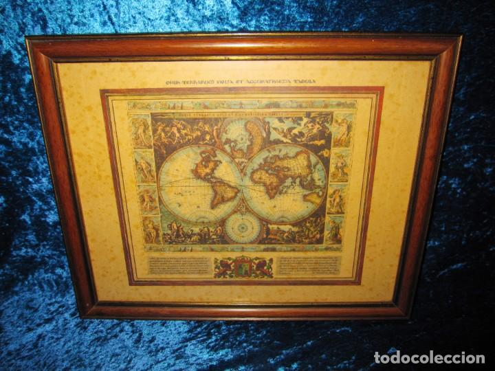 Arte: Cuadro Mapa Orbis Terrarum Nova Et Accuratissima Tabula. Nicolau Visscher Nicolas Nicolaes 1658 - Foto 2 - 205317806