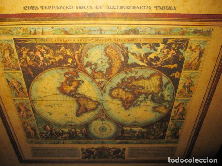 Arte: Cuadro Mapa Orbis Terrarum Nova Et Accuratissima Tabula. Nicolau Visscher Nicolas Nicolaes 1658 - Foto 4 - 205317806
