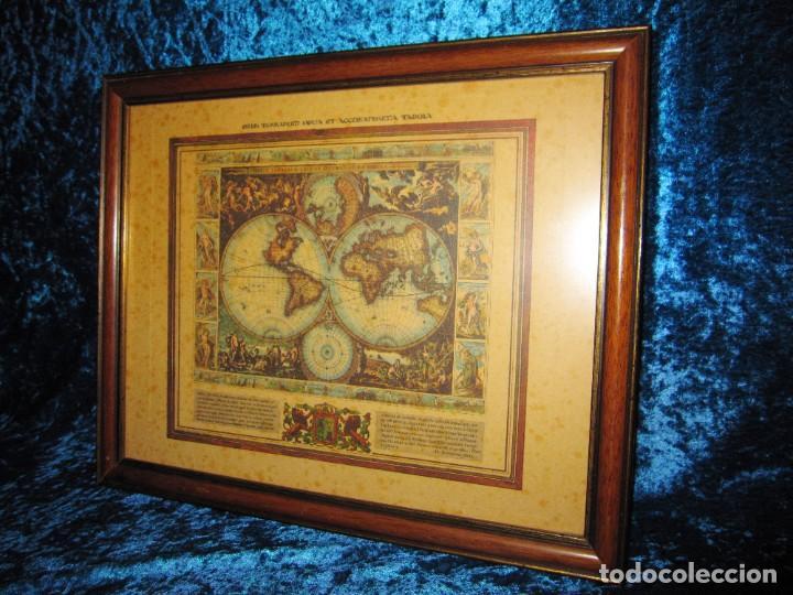 Arte: Cuadro Mapa Orbis Terrarum Nova Et Accuratissima Tabula. Nicolau Visscher Nicolas Nicolaes 1658 - Foto 5 - 205317806