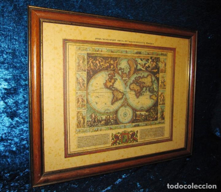 Arte: Cuadro Mapa Orbis Terrarum Nova Et Accuratissima Tabula. Nicolau Visscher Nicolas Nicolaes 1658 - Foto 6 - 205317806