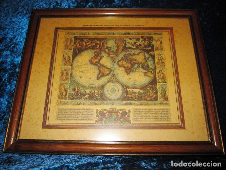 Arte: Cuadro Mapa Orbis Terrarum Nova Et Accuratissima Tabula. Nicolau Visscher Nicolas Nicolaes 1658 - Foto 7 - 205317806