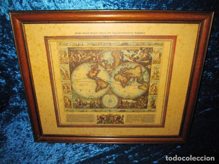 Arte: Cuadro Mapa Orbis Terrarum Nova Et Accuratissima Tabula. Nicolau Visscher Nicolas Nicolaes 1658 - Foto 8 - 205317806