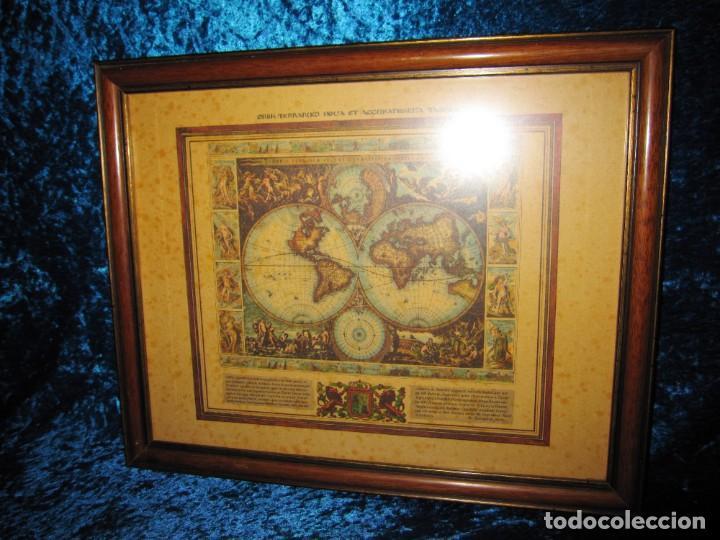 Arte: Cuadro Mapa Orbis Terrarum Nova Et Accuratissima Tabula. Nicolau Visscher Nicolas Nicolaes 1658 - Foto 11 - 205317806