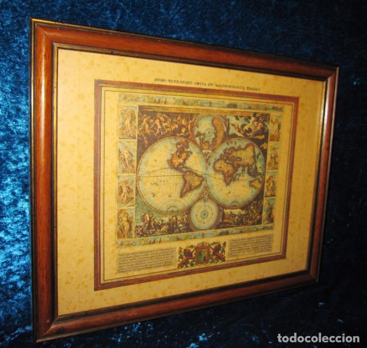 Arte: Cuadro Mapa Orbis Terrarum Nova Et Accuratissima Tabula. Nicolau Visscher Nicolas Nicolaes 1658 - Foto 12 - 205317806