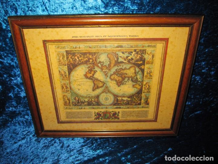 Arte: Cuadro Mapa Orbis Terrarum Nova Et Accuratissima Tabula. Nicolau Visscher Nicolas Nicolaes 1658 - Foto 13 - 205317806
