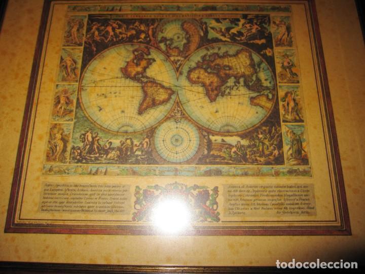 Arte: Cuadro Mapa Orbis Terrarum Nova Et Accuratissima Tabula. Nicolau Visscher Nicolas Nicolaes 1658 - Foto 14 - 205317806