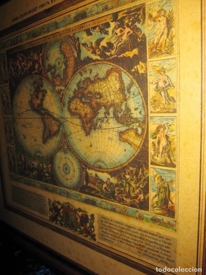 Arte: Cuadro Mapa Orbis Terrarum Nova Et Accuratissima Tabula. Nicolau Visscher Nicolas Nicolaes 1658 - Foto 15 - 205317806