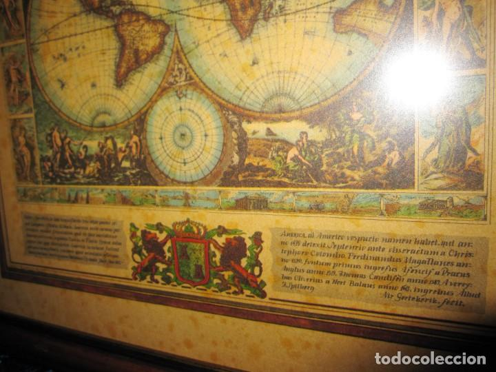Arte: Cuadro Mapa Orbis Terrarum Nova Et Accuratissima Tabula. Nicolau Visscher Nicolas Nicolaes 1658 - Foto 16 - 205317806