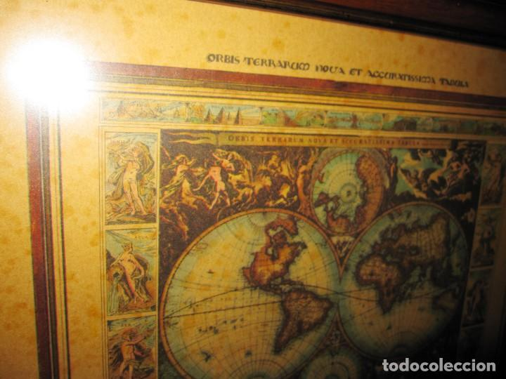 Arte: Cuadro Mapa Orbis Terrarum Nova Et Accuratissima Tabula. Nicolau Visscher Nicolas Nicolaes 1658 - Foto 17 - 205317806