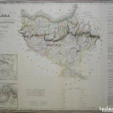 Arte: MAPA DEL PAÍS VASCO Y NAVARRA DE 1838. Lote 205453630