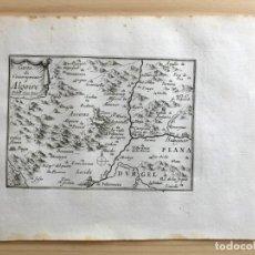 Arte: GRABADO ANTIGUO SIGLO XVII CARTE DU GOUVERNEMENT D'ALGOIRE ALGUAIRE [1660] BEAULIEU LLEIDA CATALUÑA. Lote 205692195