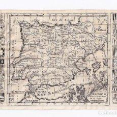 Arte: MAPA ANTIGUO SIGLO XVIII PENÍNSULA IBÉRICA ESPAÑA PORTUGAL [1700] [LA CROIX, PEETERS]. Lote 205812735