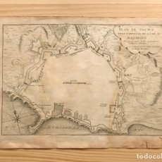 Arte: MAPA PLANO ANTIGUO SIGLO XVIII PALMA MALLORCA BALEARES DE FER 1715. Lote 205815751