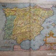Arte: REGNI HISPANIAE POST LOCUPLETTISSIMA DESCRIPTIO.MAPA PENINSULA IBÉRICA.ESPAÑA PORTUGAL.ORTELIUS[1570. Lote 205819191