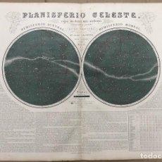 Art: MAPA PLANISFERIO CELESTE. ATLAS GEOGRAFICO UNIVERSAL. JUAN VILANOVA, OTTO NEUSSEL. 1ª EDICION, 1878. Lote 206338125