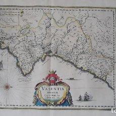 Arte: MAPA DE VALENCIA 1636-1644 VALENTIA REGNUM,CONTESTANI EDENTANI. Lote 206492300