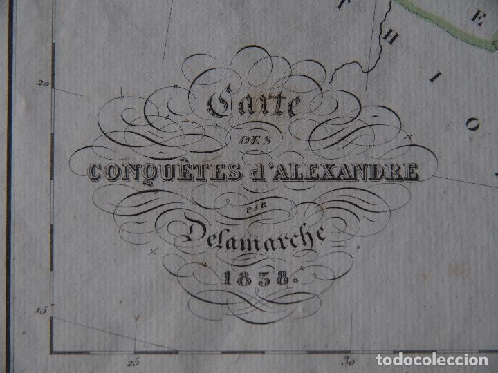 Arte: Mapa de las conquistas de Alejandro Delamarche 1838 - Foto 2 - 206529662