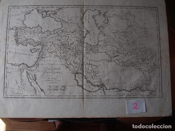 MAPA DE LAS CONQUISTAS DE ALEJANDRO ROLLIN D'ANVILLE [1818] (Arte - Cartografía Antigua (hasta S. XIX))