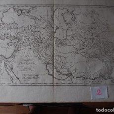 Arte: MAPA DE LAS CONQUISTAS DE ALEJANDRO ROLLIN D'ANVILLE [1818]. Lote 206531902