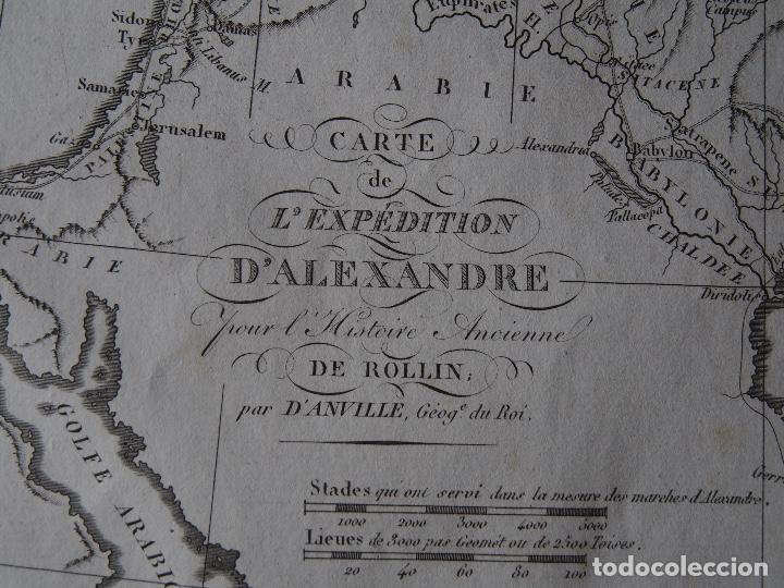 Arte: Mapa de las conquistas de Alejandro Rollin DAnville [1818] - Foto 2 - 206531902