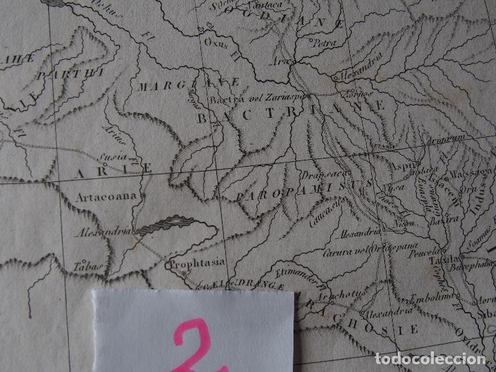 Arte: Mapa de las conquistas de Alejandro Rollin DAnville [1818] - Foto 4 - 206531902