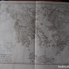 Arte: MAPA DE GRECIA ROLLIN D'ANVILLE [1818]. Lote 206532845
