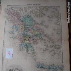 Arte: MAPA DE GRECIA SMITH MIGEON LACOSTE [1894]. Lote 206535427