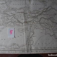 Arte: MAPA DE LA RETIRADA DE LOS DIEZ MIL POR FELIX DELAMARCHE 1830. Lote 206536820