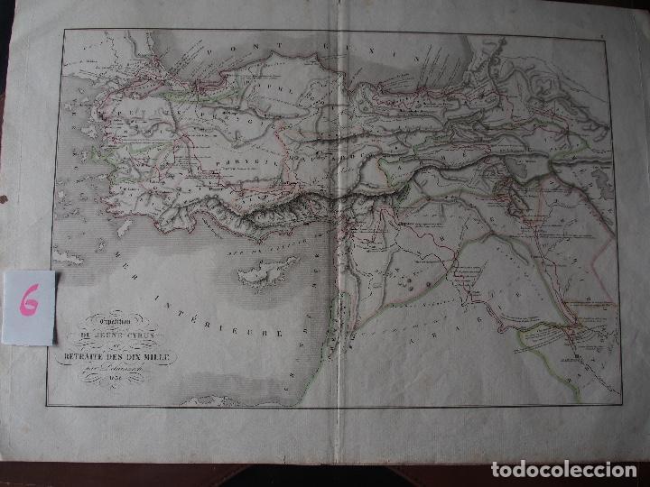 MAPA DE LA EXPEDICIÓN DEL JOVEN CIRO Y DE LA RETIRADA DE LOS DIEZ MIL. DELAMARCHE 1838 (Arte - Cartografía Antigua (hasta S. XIX))