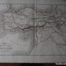 Arte: MAPA DE LA EXPEDICIÓN DEL JOVEN CIRO Y DE LA RETIRADA DE LOS DIEZ MIL. DELAMARCHE 1838. Lote 206537523