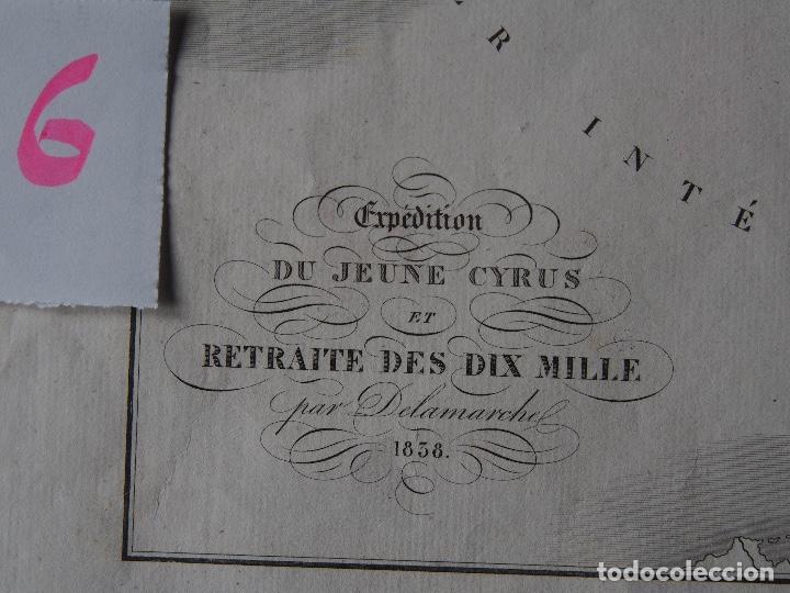 Arte: Mapa de la expedición del joven Ciro y de la retirada de los diez mil. Delamarche 1838 - Foto 2 - 206537523
