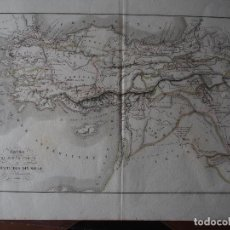 Arte: MAPA DE LA EXPEDICIÓN DEL JOVEN CIRO Y DE LA RETIRADA DE LOS DIEZ MIL. DELAMARCHE 1838. Lote 206537750