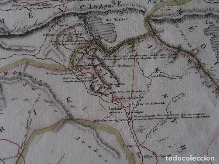 Arte: Mapa de la expedición del joven Ciro y de la retirada de los Diez Mil. Delamarche 1838 - Foto 4 - 206537750