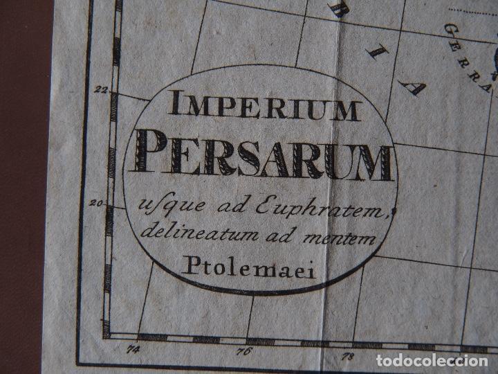 Arte: Mapa del Imperio Persa según Ptolomeo Imperium Persarum usque ad Euphratem, delineatum ad mentem Pto - Foto 2 - 206540620