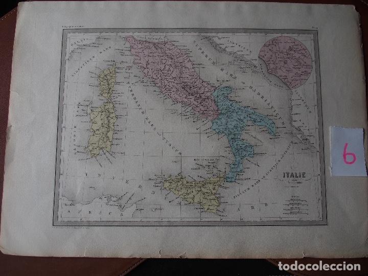 MAPA DE ITALIA ANTIGUA - ITALIE ANCIENNE - C. 1871 - P BELLIER IMPR. (Arte - Cartografía Antigua (hasta S. XIX))