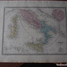 Arte: MAPA DE ITALIA ANTIGUA - ITALIE ANCIENNE - C. 1871 - P BELLIER IMPR.. Lote 206553875