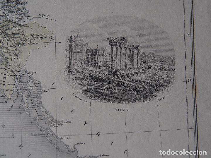 Arte: Mapa de Italia Antigua - Italie Ancienne - c. 1894 - Migeon - Foto 2 - 206554542
