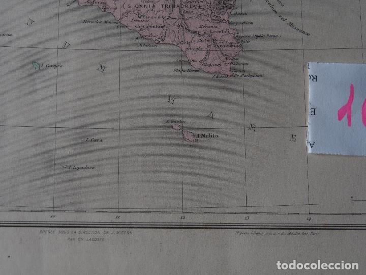 Arte: Mapa de Italia Antigua - Italie Ancienne - c. 1894 - Migeon - Foto 3 - 206554542