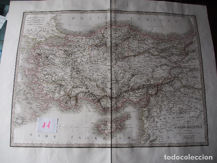 MAPA DE DE ASIA MENOR ANTIGUA. LAPIE 1831 ¡MAGNÍFICO! CARTE DE L'ASIE MINEURE ANCIENNE (Arte - Cartografía Antigua (hasta S. XIX))