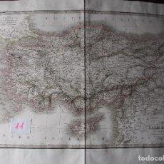 Arte: MAPA DE DE ASIA MENOR ANTIGUA. LAPIE 1831 ¡MAGNÍFICO! CARTE DE L'ASIE MINEURE ANCIENNE. Lote 206555662