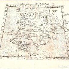 Arte: 1561 MAPA ESPAÑA Y PORTUGAL, PTOLOMEO. TABVLA EVROPAE II. (GIROLAMO RUSCELLI). Lote 206581733